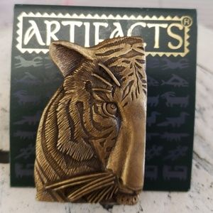 Vintage JJ Jonette Tiger Brooch